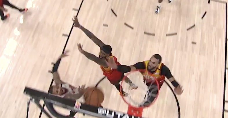 How Did The Refs Miss This Goaltend At The End Of the Blazers/Jazz Game?