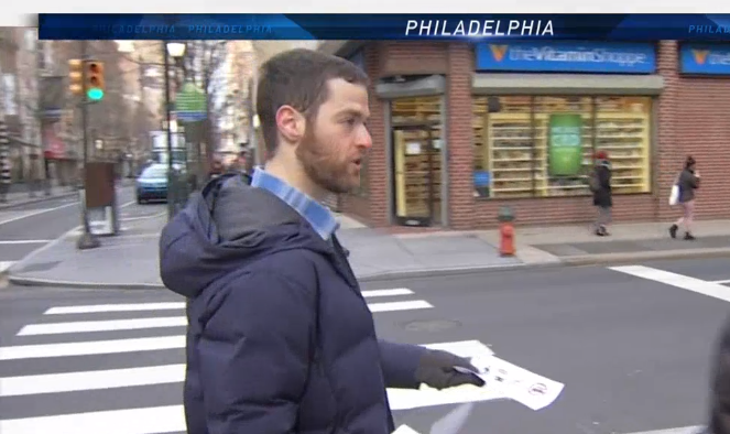 This Guy Is Trying To Cancel Cars On Chestnut Street
