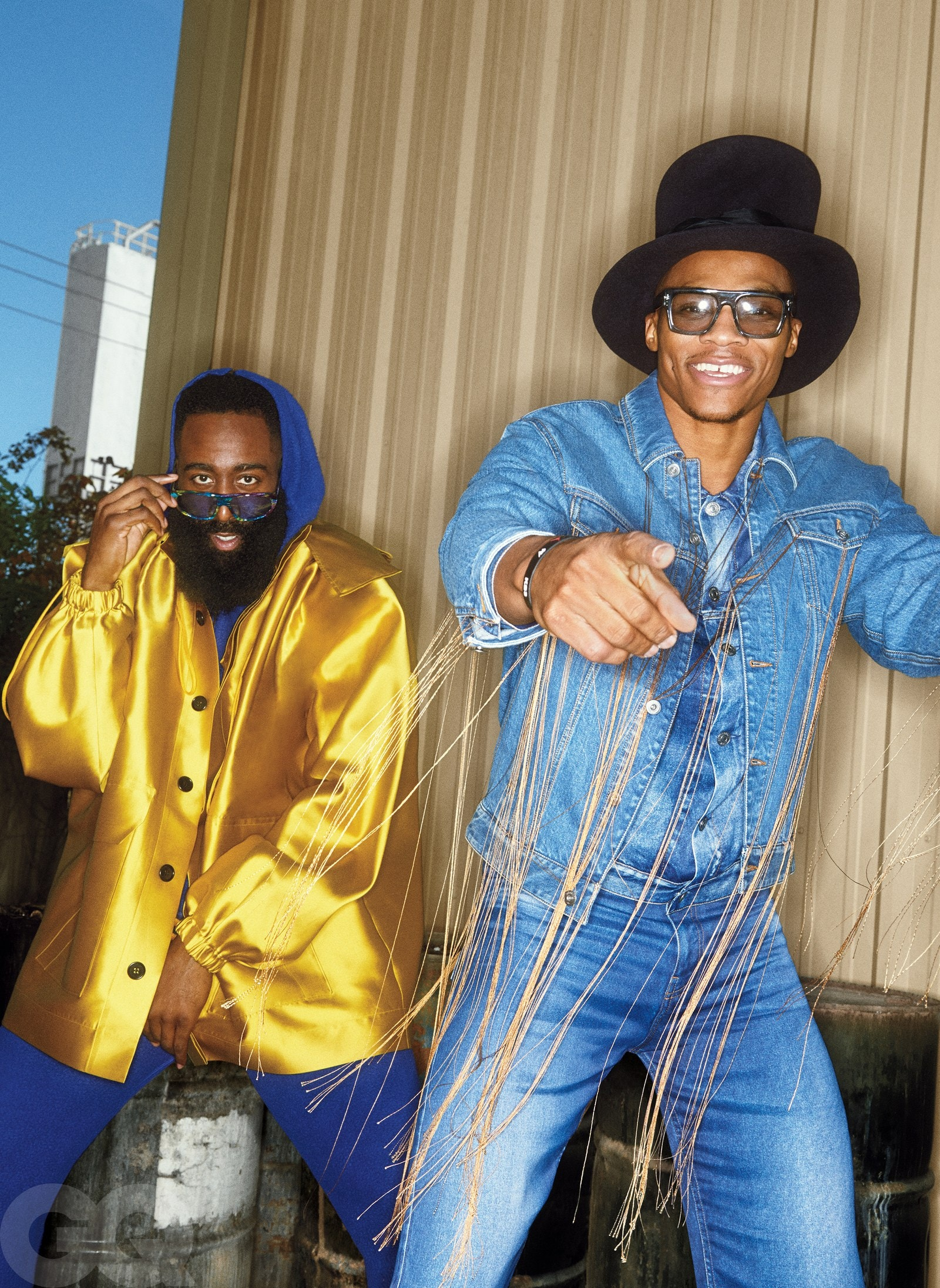 Your First Look At GQ's Newest Cover Stars: James Harden and Russell Westbrook