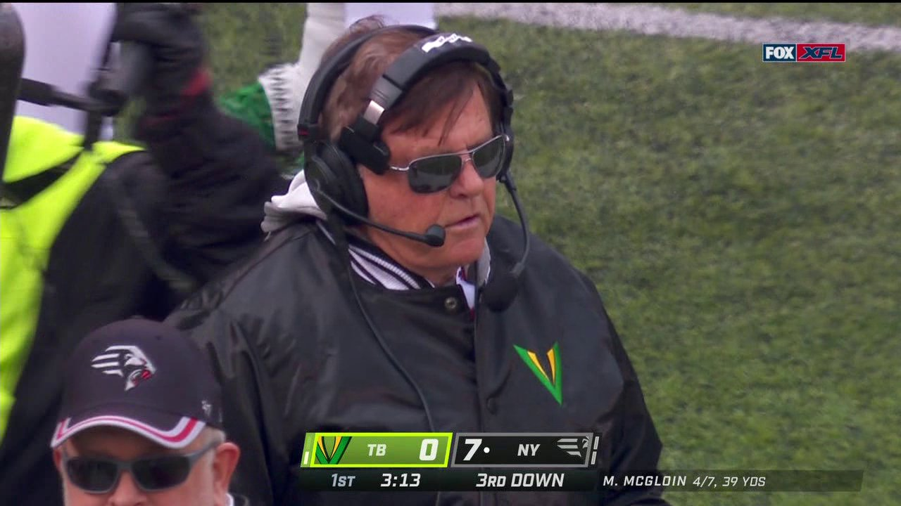 The XFL Is Innovating The Game – Jerry Glanville Is Wearing Two Headsets On The Sideline