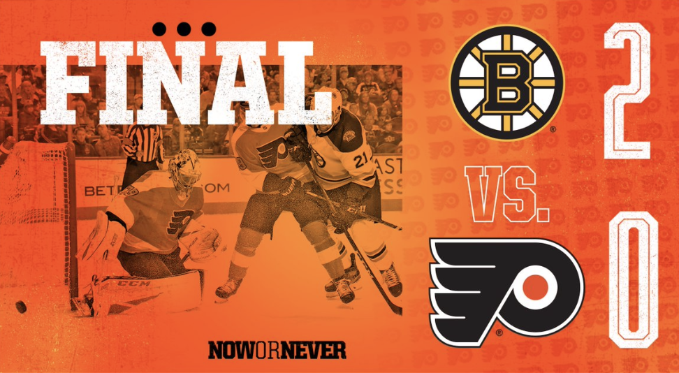 Bruins Snap Flyers 9 Game  Win Streak…WE'RE STILL ON TO THE CUP!