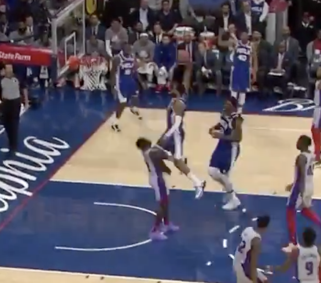 Mike Scott Just Dunked All Over The Pistons