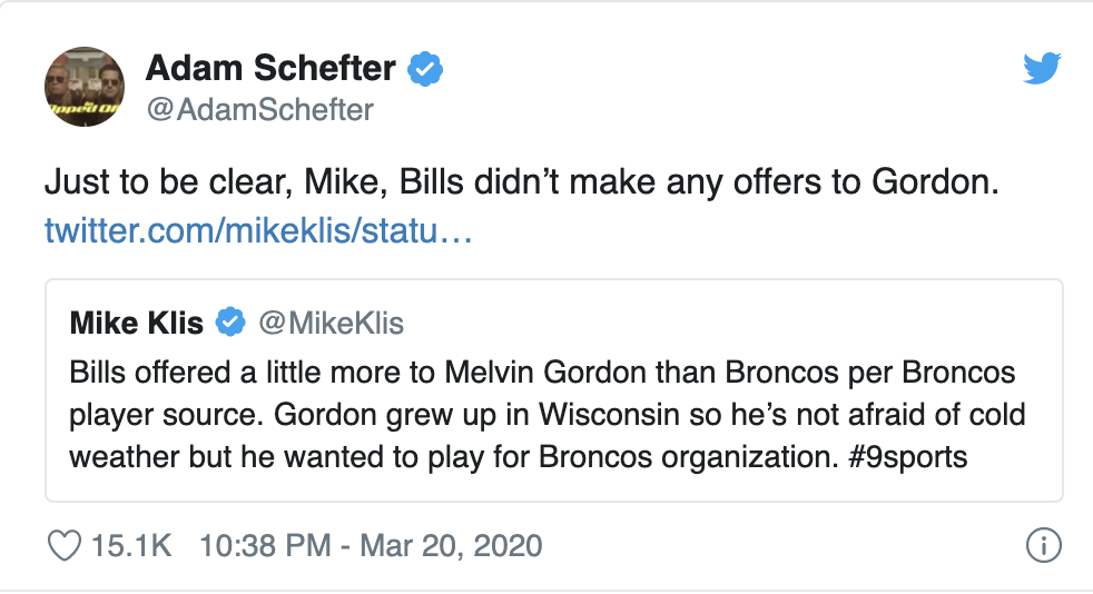 Adam Schefter Got Into An 'Ol Fashioned Source Off With A Denver Broncos Beat Writer