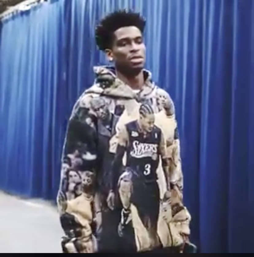 Shai Gilgeous Alexander Rocks The AI Stepover Photo On His Sweatshirt Before He Faces Tyronn Lue And The Clippers Tonight
