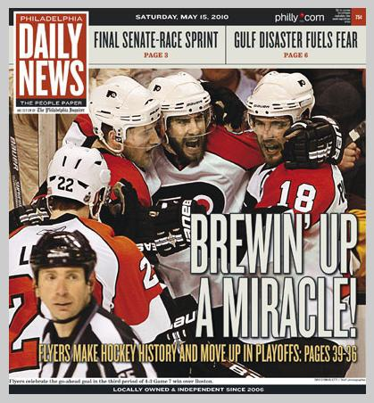 Start Your Day With The 2010 Flyers Comeback Over Bruins In Game 7