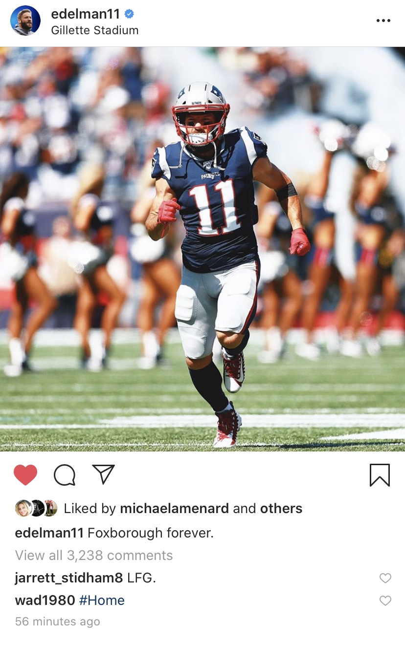 Julian Edelman Just Gave Patriots Fans A Reason To Live
