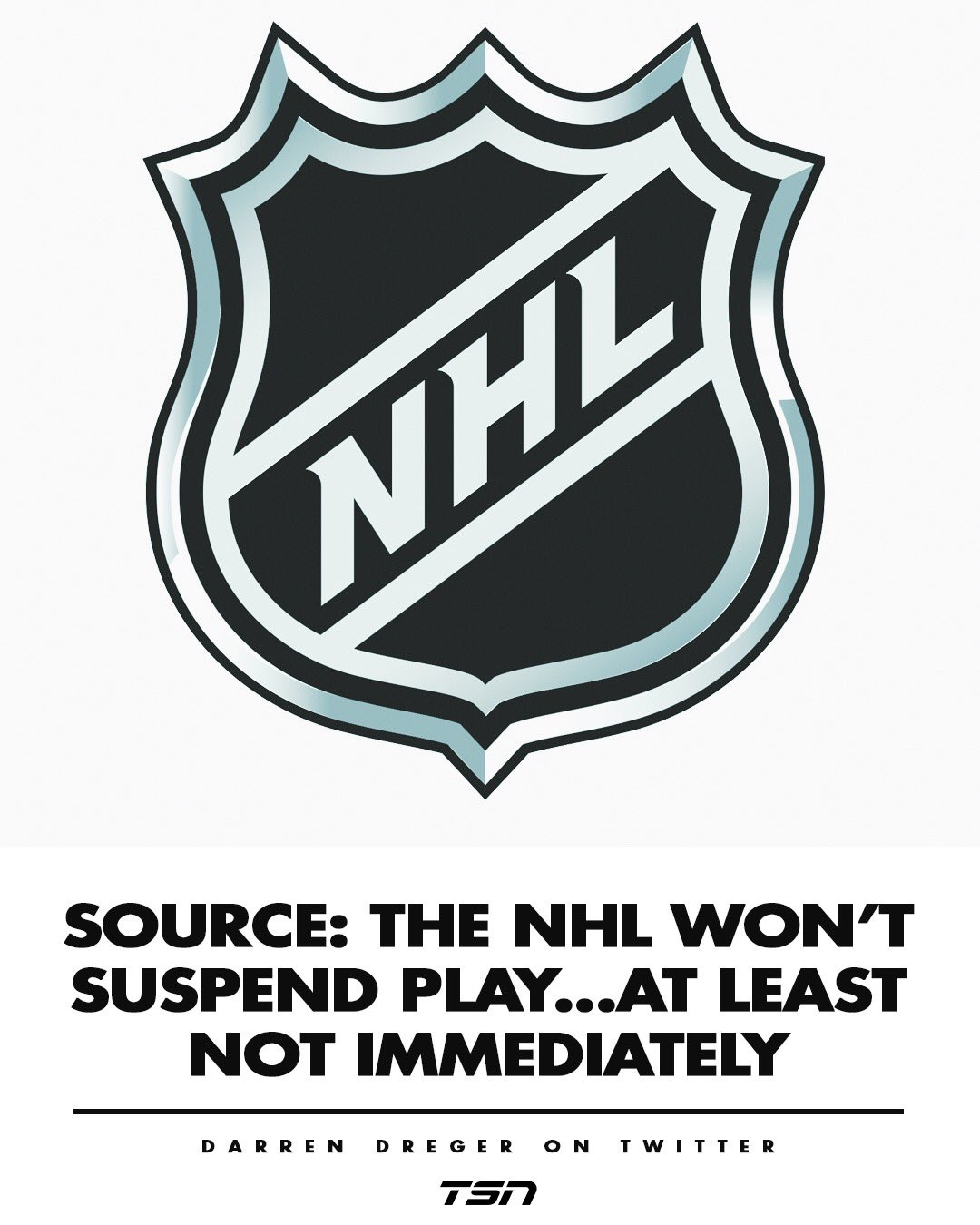 UPDATE: Suspension Coming. Report: NHL Will Announce Today That There Will Be No Fans For Upcoming Games