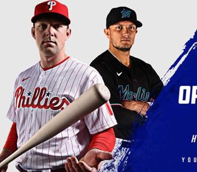 Phillies Take On The Marlins Today At 4:10. Opening Day Is Back……