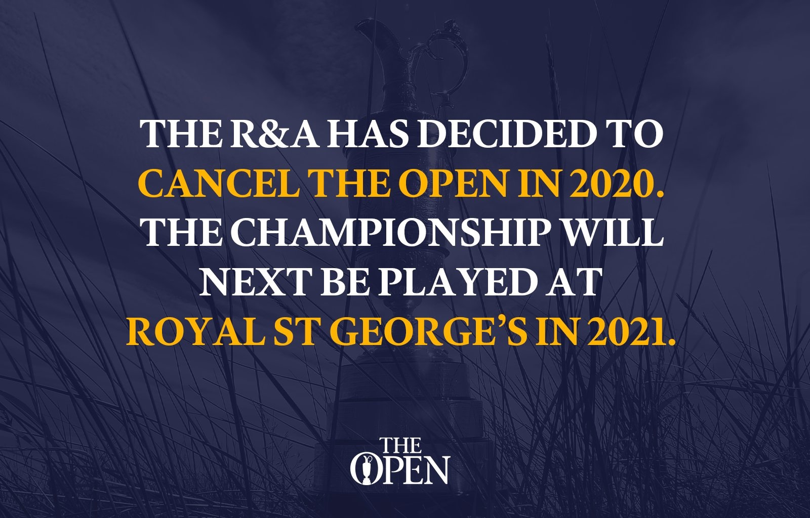 "Breaking News:  ""The Open"" Has Been Canceled."
