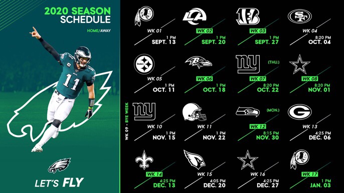 Eagles 2020 Schedule Is Out!!