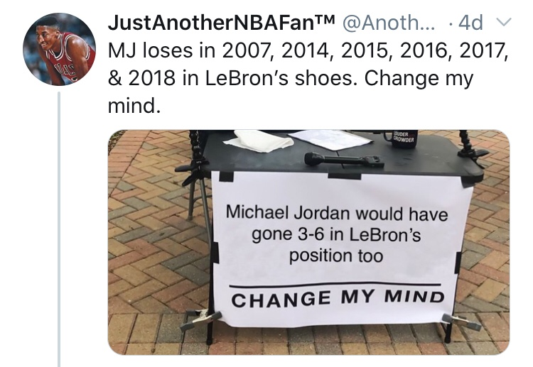 I Either Found LeBron's Burner Account Or The Biggest Loser In The World Or Both