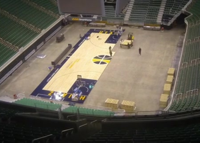 They Absolutely Have To Make NBA Teams Bring Their Own Hardwood Floors To Games In Disney