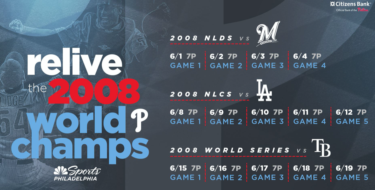 NBC Sports Is Re-airing The Phillies Entire 2008 Playoff Run