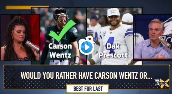 Colin Cowherd Plays A Game Called 'Wentz Or Fence'