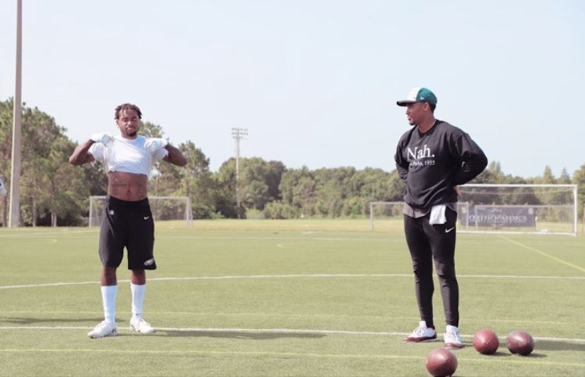 Jalen Hurts And Djax Working Out Together In Tampa