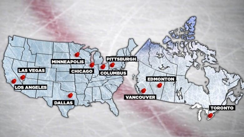 NHL Hub Cities Announced