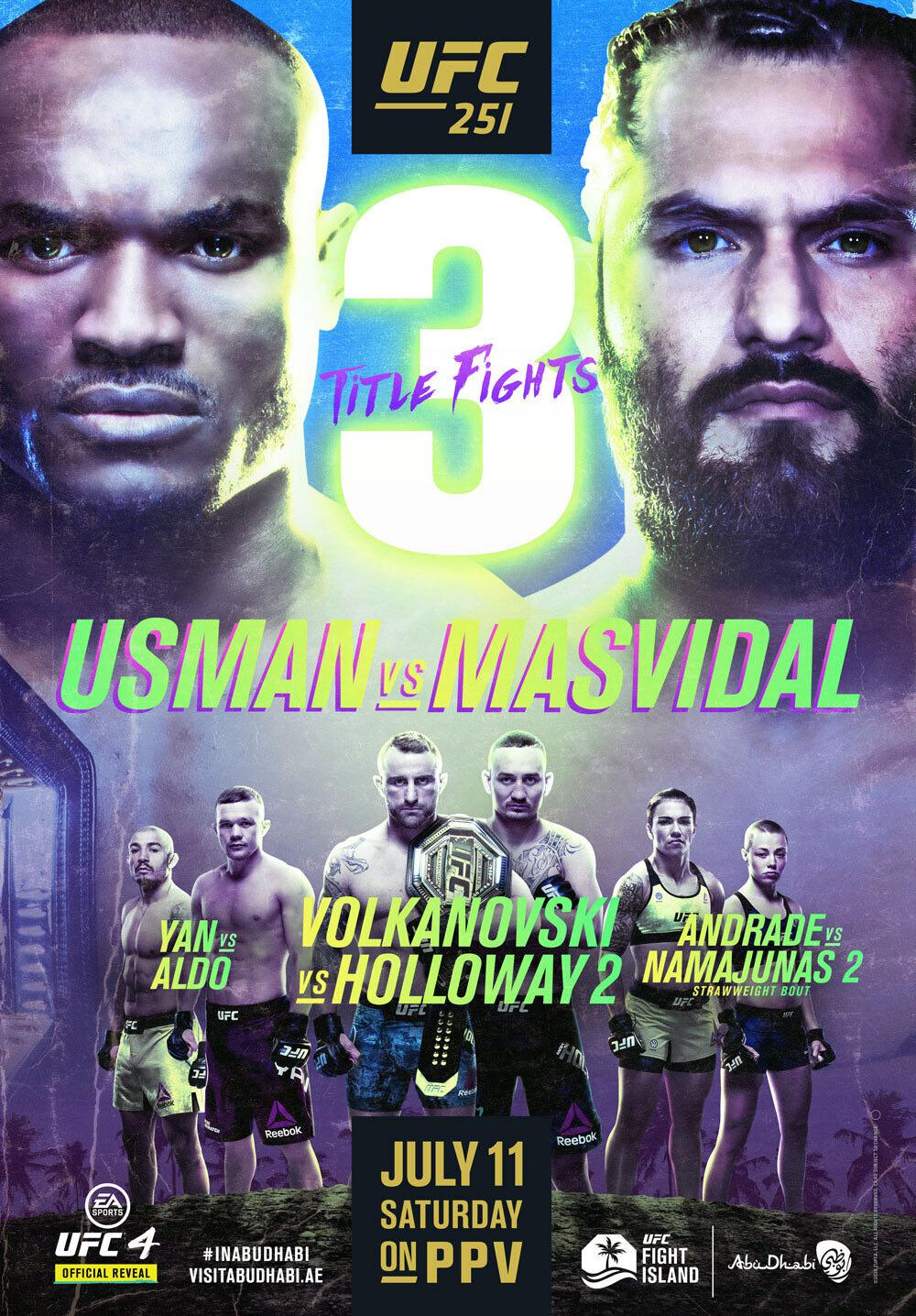 Previewing UFC 251: Fight Island