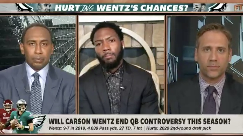 """Ryan Clark Gives Max Kellerman The Business About Wentz/Hurts """"Controversy"""""""