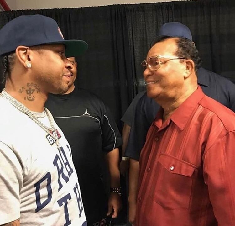 Allen Iverson Posts Instagram With Louis Farrakhan….Yikes