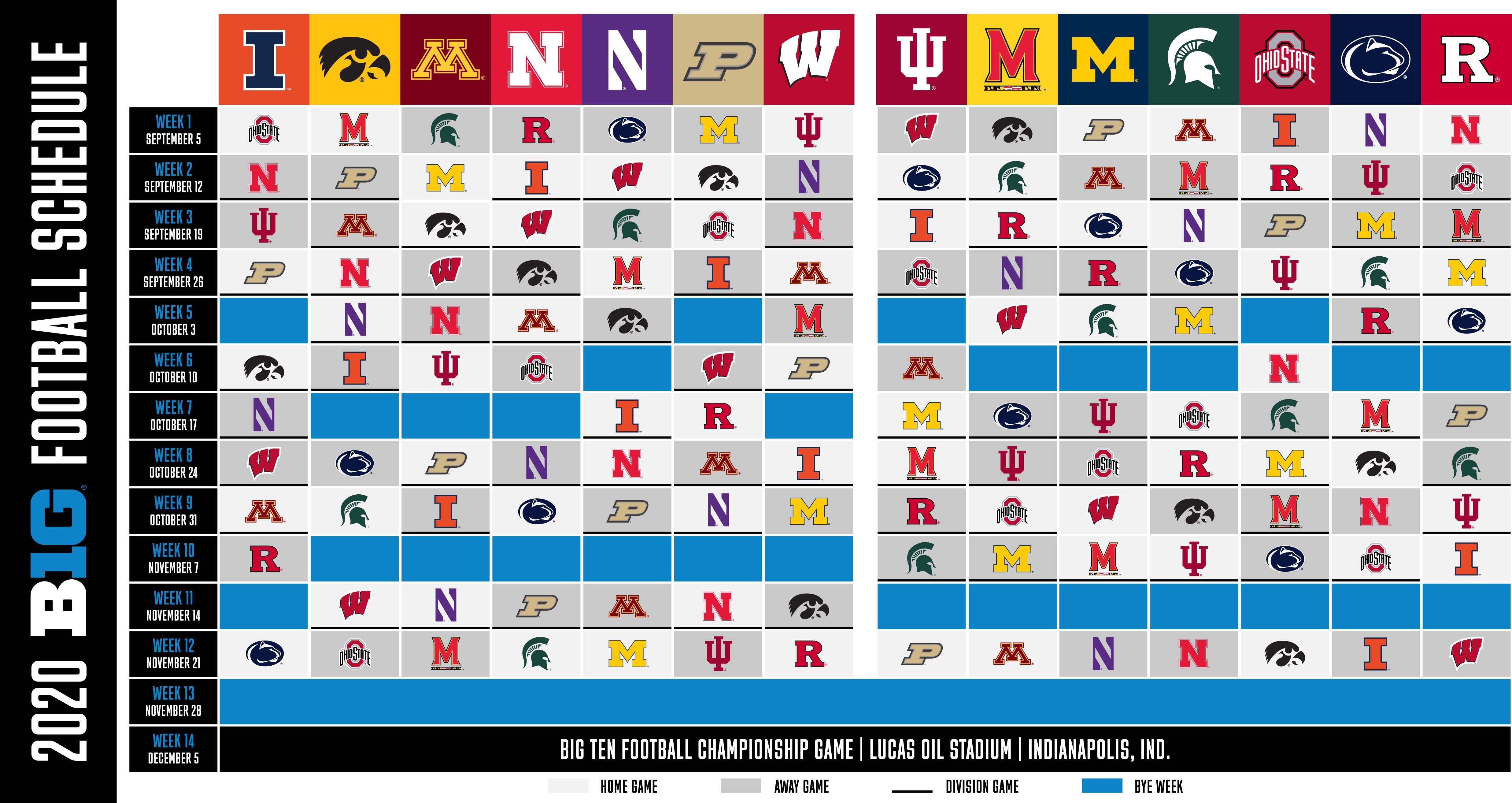 BREAKING: Big Ten Released Their 2020 Football Schedule