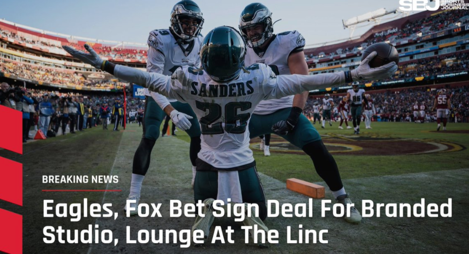 BREAKING: Eagles Sign A Deal With FOX Bet To Have Studio And Lounge In The Linc