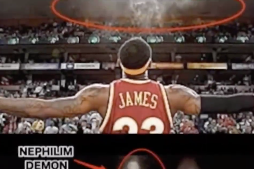 Turns Out LeBron James' Famous Chalk Toss Is Actually Him Conjuring Demons..I Knew It!!!