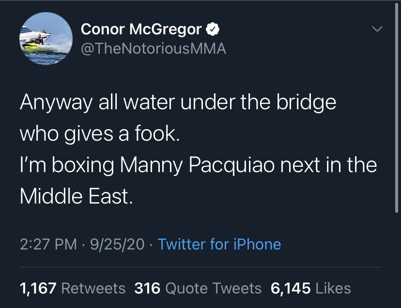 BREAKING: McGregor To Fight Pacquiao