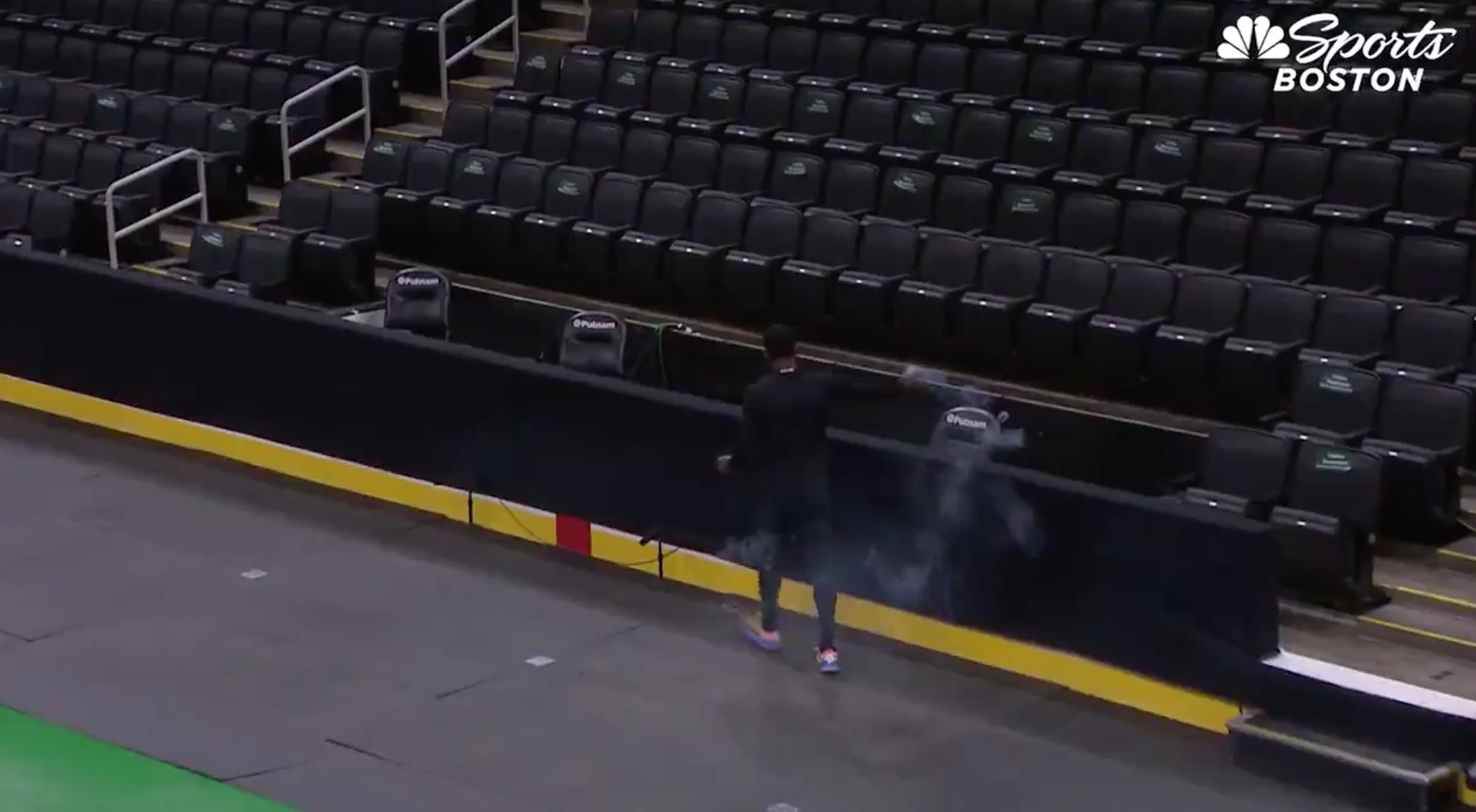 Kyrie Irving Burning Sage On The Court In Boston Like A Totally Normal Person Does