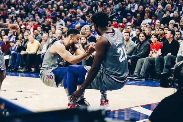 Joel Embiid Chirps At Fan While Defending Ben Simmons Honor