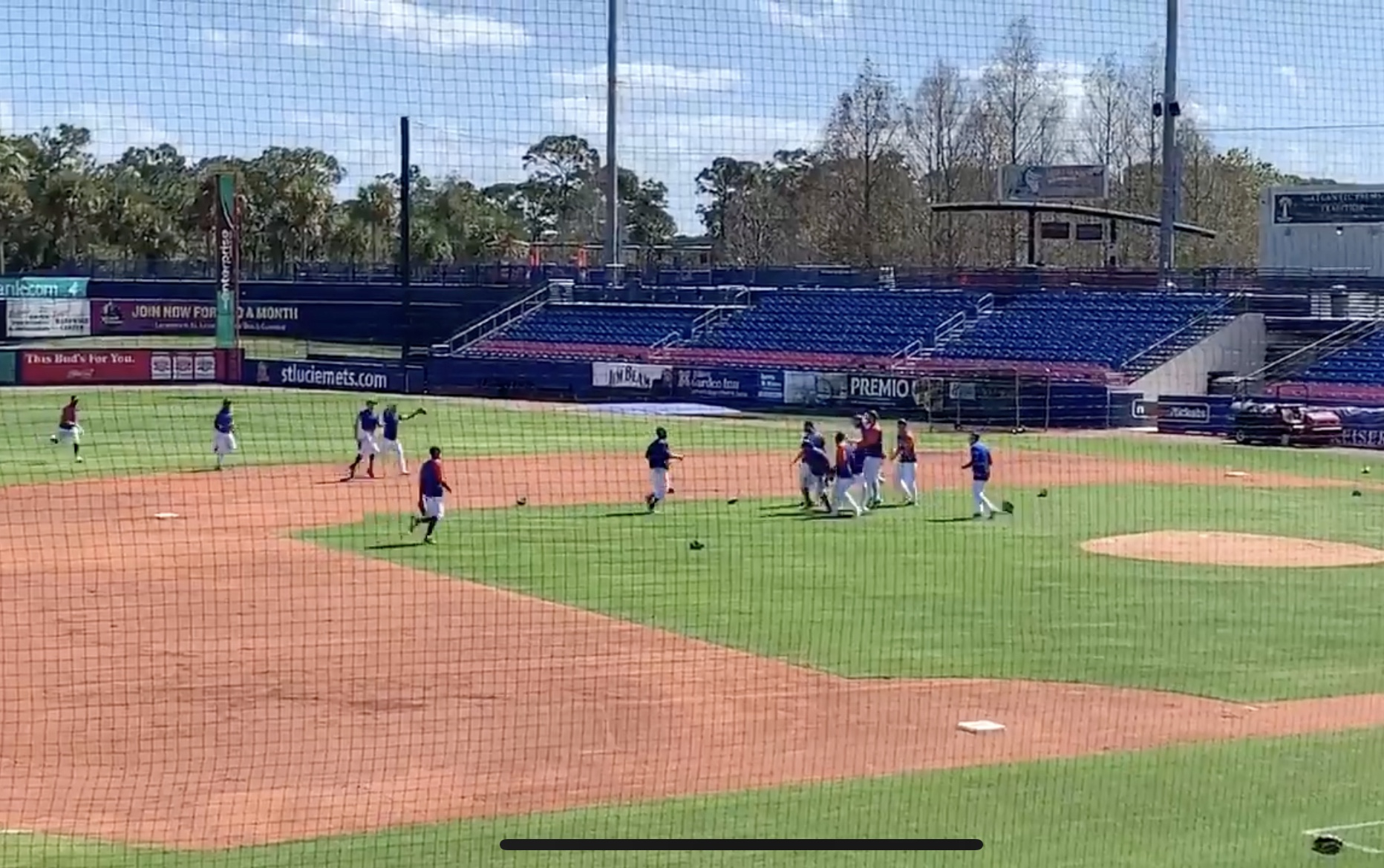 Mets Practice Celebrating Winning The World Series….Wait What?