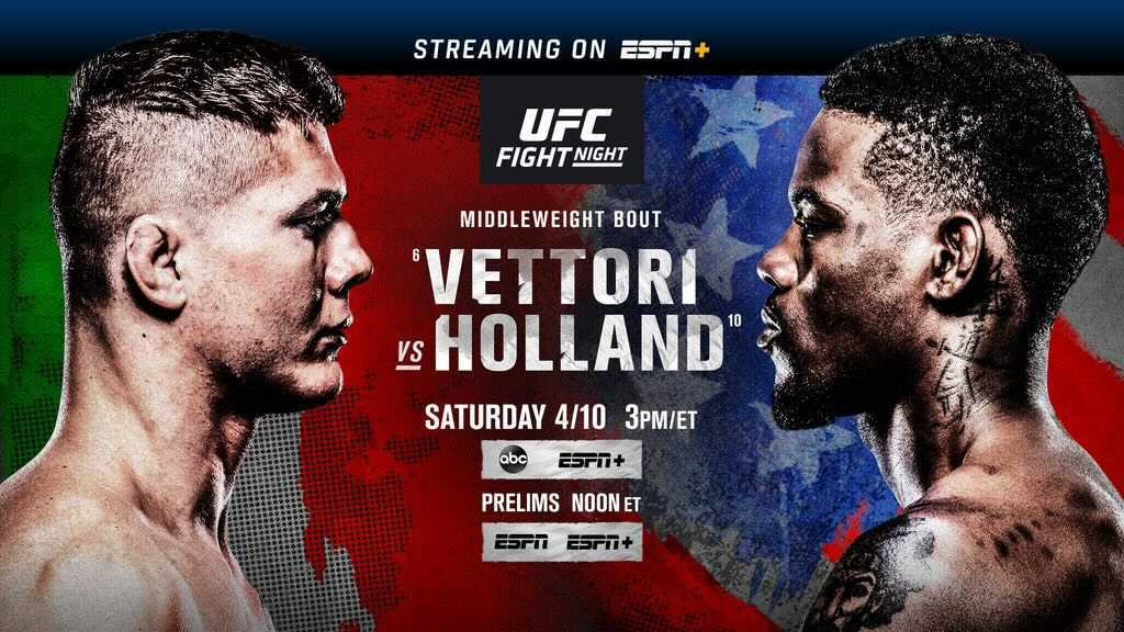 Afternoon Fights! UFC ON ABC 2: Vettori vs Holland