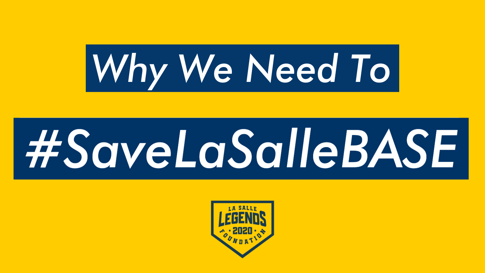 Why We Need To #SaveLaSalleBASE – @JamesSantore