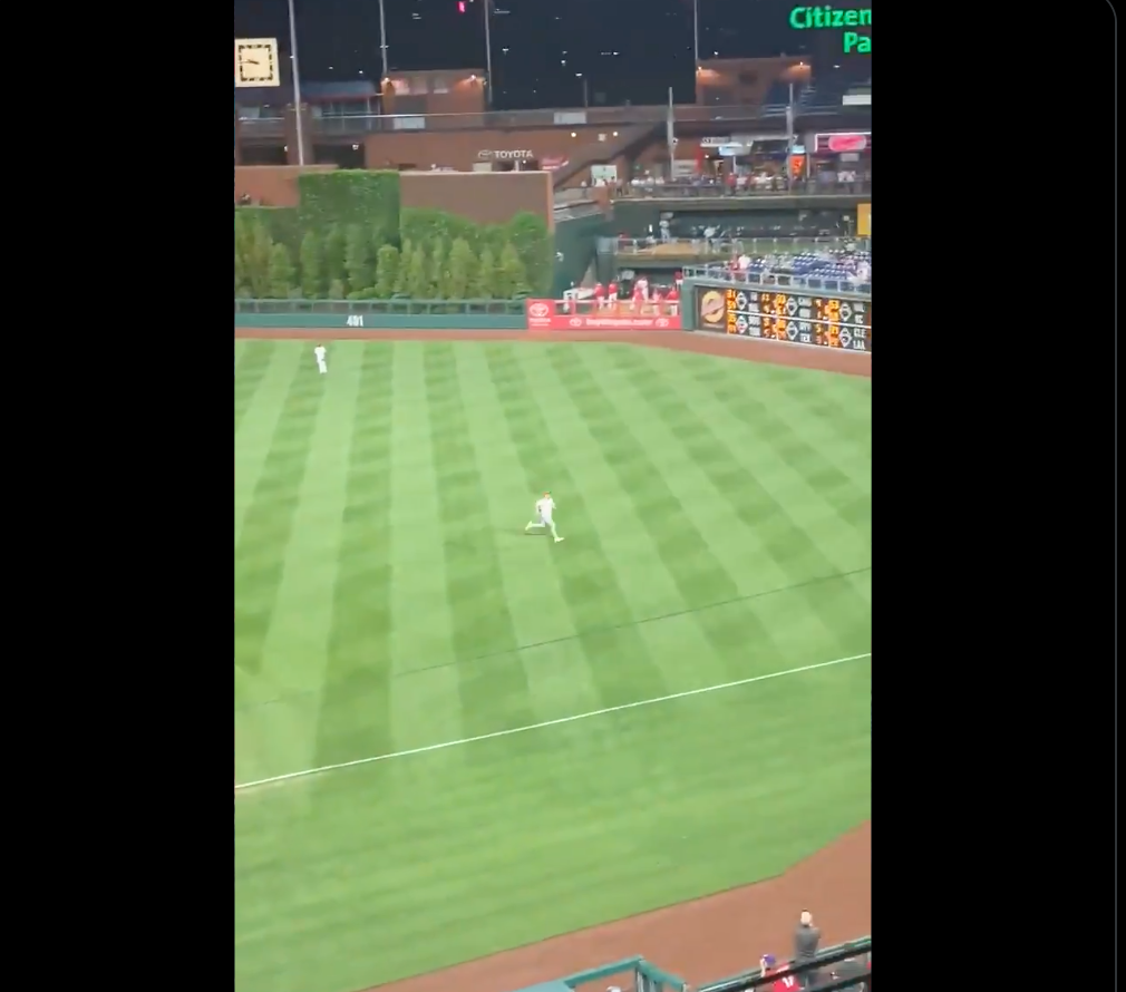 We've Got A Phillies Fan On The Field And I Think I Want Him Signed