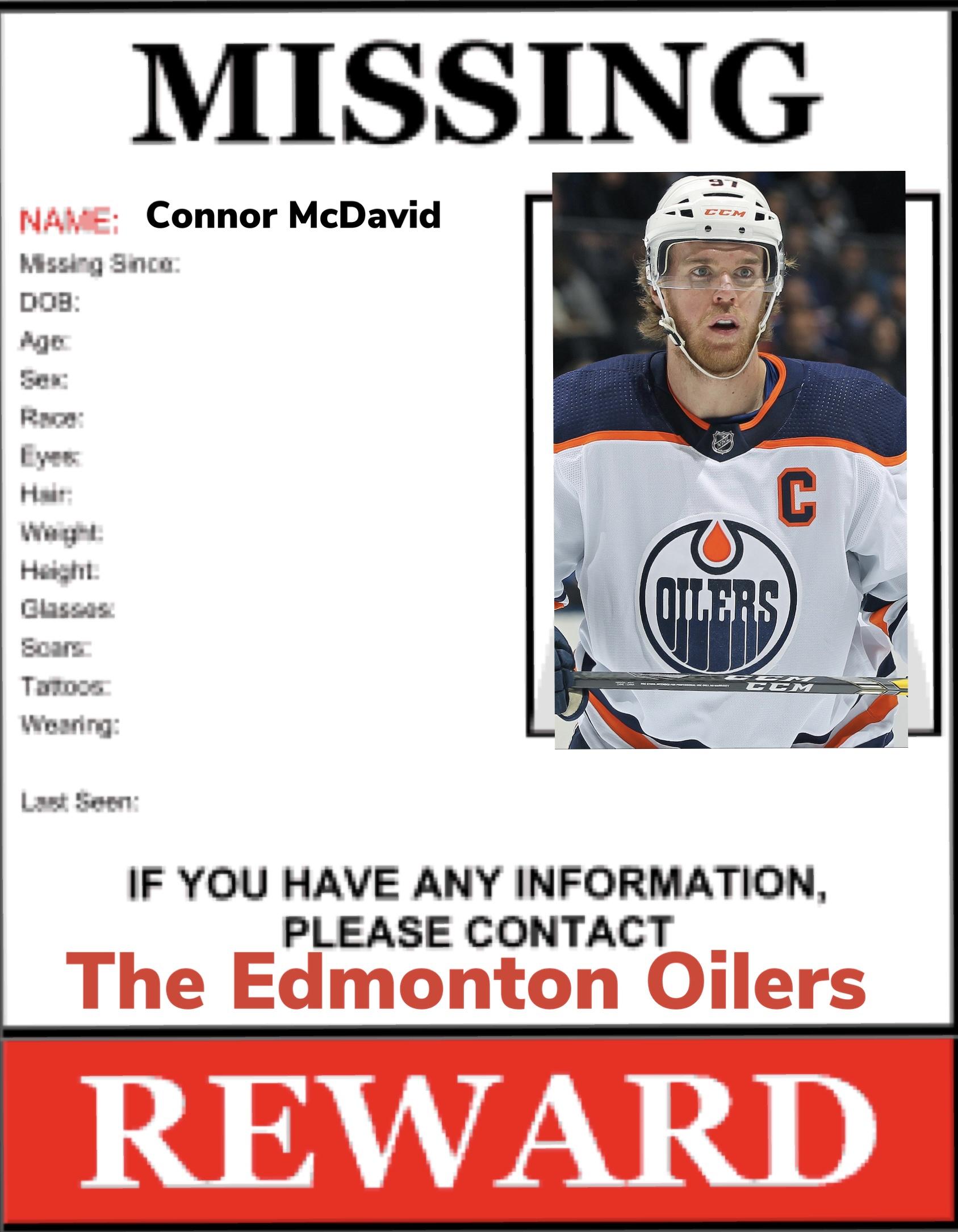 Missing: Connor McDavid