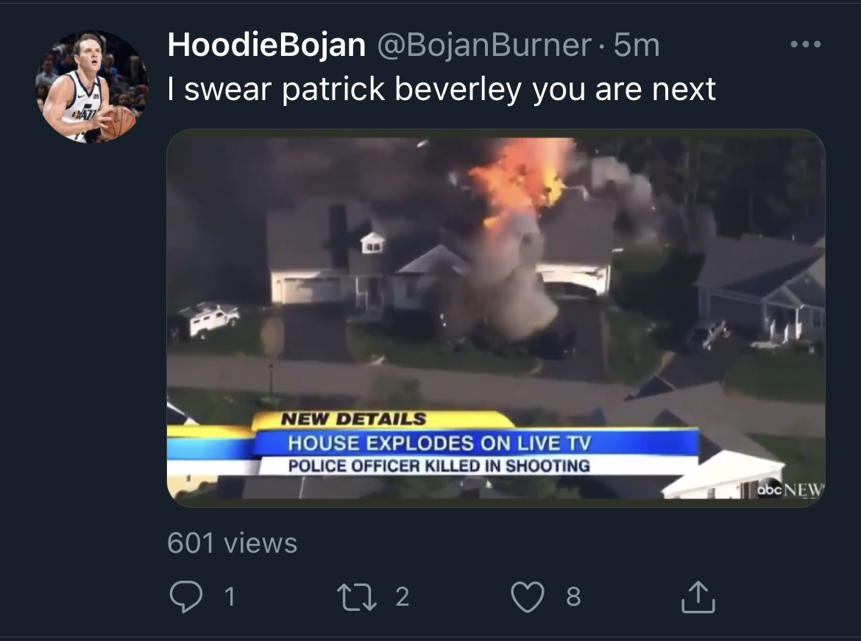 Utah Jazz Fan Threatened To Kill Patrick Beverley Last Night