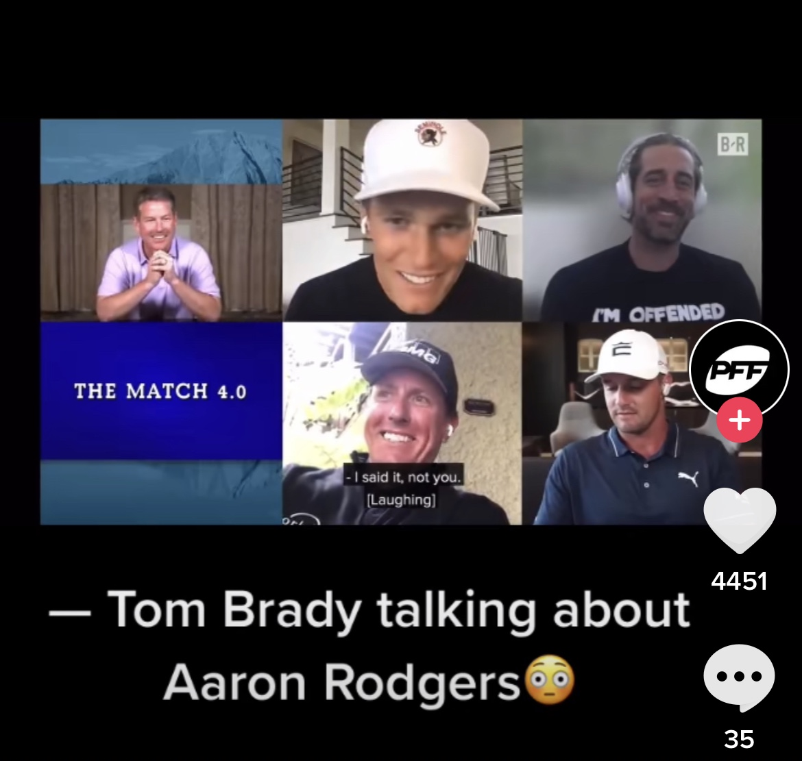 Tom Brady With A Kill Shot On Aaron Rodgers