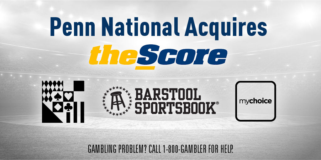 Penn National Gaming Acquires The Score To Go Along With Barstool